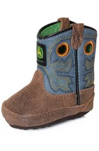 John Deere Baby Infant Boy's Johnny Poppers Western Crib Boots JD0317 - £28.30 GBP
