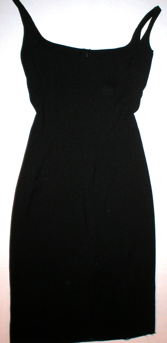 New Small Designer Dress Black Raw Hem Cocktail  Bonanza