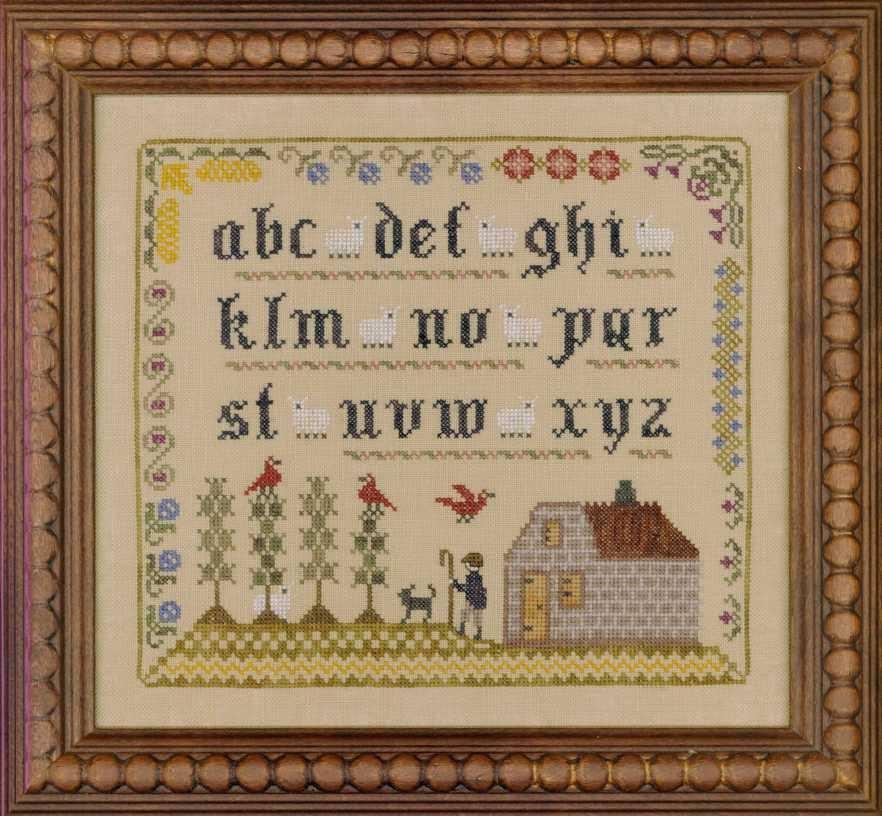 Lost Sheep Sampler cross stitch chart Elizabeth's Designs