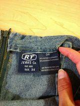 Vtg RT JEANS CO Denim Skirt Long Modest Sz 34 Fits Small Medium Blue Jean Maxi image 11