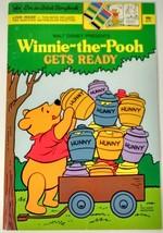 Watercolor Storybook Disney WINNIE THE POOH 1979 cartoon coloring book u... - $145.13