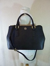 Tory Burch Black Saffiano Leather Robinson Mini Double-Zip/EW Tote - $413.80