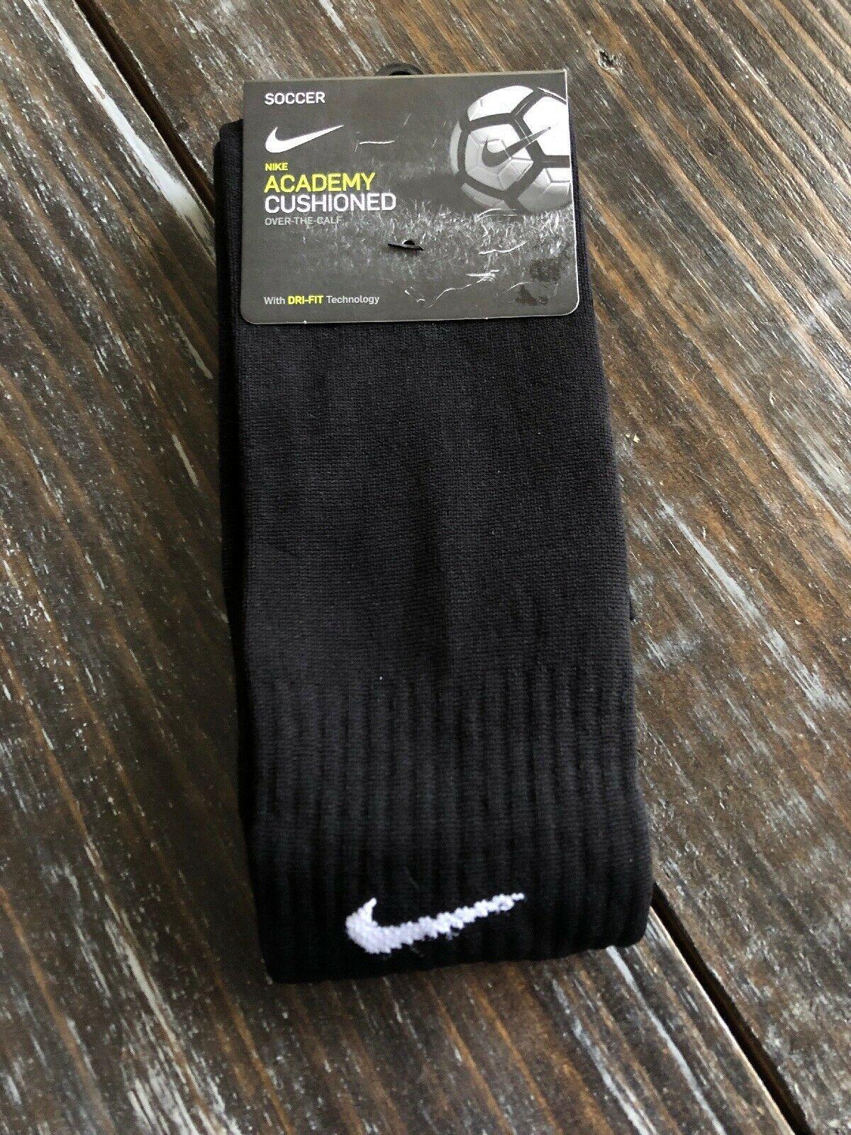 Nike Classic Soccer Socks SX4120 001 Adult All Black Dri Fit Size Medium