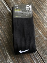 Nike Classic Soccer Socks SX4120 001 Adult All Black Dri Fit Size Medium - $10.89