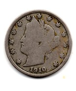 "1910 Liberty Head ""V"" Nickel - Reverse Side Pitting - $89,45 MXN"