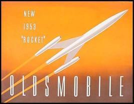 1953 Oldsmobile Rocket Brochure Catalog Original 53 - $15.74