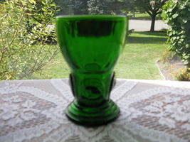 New Martinsville Dark Green Moondrops Tumbler - $18.00