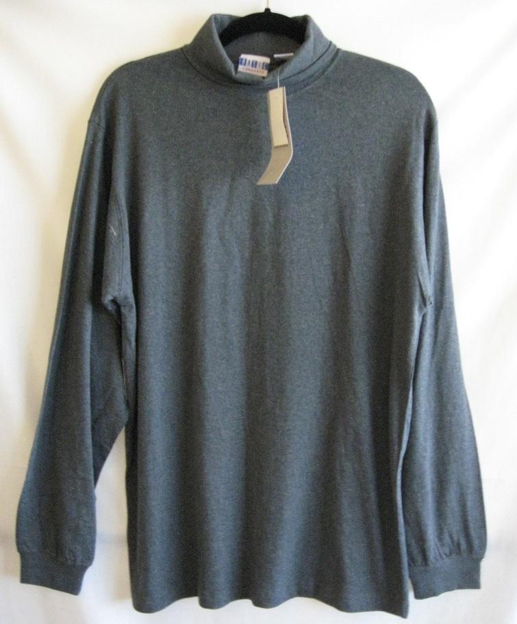 Mens womens turtleneck shirt long sleeve medium size gray for Turtle shirts for men