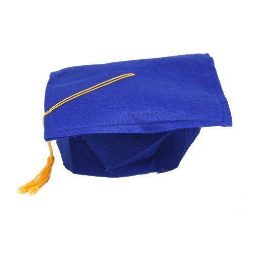 Children's Felt Blue Graduation Cap  (1 per Pack) Hat