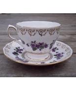 Colclough Voilets Tea Cup & Saucer Set Mint - $21.95