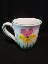 2003 Starbucks Barista Flower Coffee Mug Tea Cup hand painted in Italy - $19.99