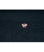 Vintage  Avon pink topaz glass ring size 7 - $20.00