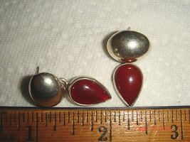 VTG URBAN GYPSY 925 STERLING SILVER CARNELIAN TEAR DROP CABISHON DANGLE ... - $97.99