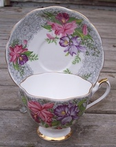 Queen Anne Nottingham Lace Tea Cup & Saucer Set - $21.95