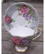 Queen Anne Nottingham Lace Tea Cup & Saucer Set - $21.95