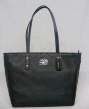 NWT! Coach 37155M City Zip Tote In Black Pebble Leather & Gold-Tone Hard... - $219.00