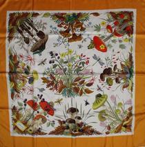 'Gucci Silk Botanical Theme Scarf' - $250.00