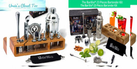 Elite 23-Piece Bartender Kit Cocktail Shaker Set by 23 pcs Bar with Stand - $76.66