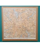 1897 MAP Baedeker - England Cumberland Lake District Keswick & Environs - $18.00