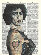 Art N Wordz Dr. Frank N. Furter Original Dictionary Page Wall/Desk PopAr... - $24.99