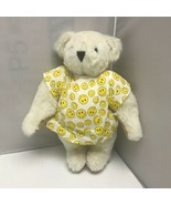 Vermont Teddy Bear Get Well Smiley Face Hospital Gown White Bear Plush 15″ - $99.99