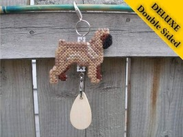 Brussels Griffon Smooth Deluxe crate tag, hang anywhere, agility dog sho... - $20.00