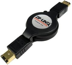 Cables Unlimited ZIP-1394-C06 ZipLinq Retractable 6-Pin to 6-Pin Firewir... - $5.64