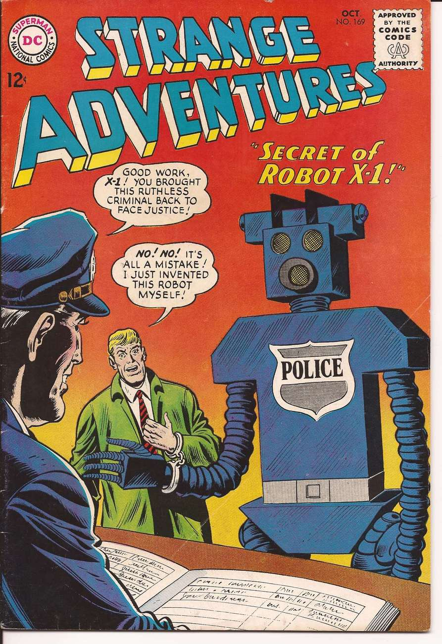 Primary image for DC Strange Adventures #169 Sci-Fi The Secret Of Robot X-1 Prisoner Of The Hour