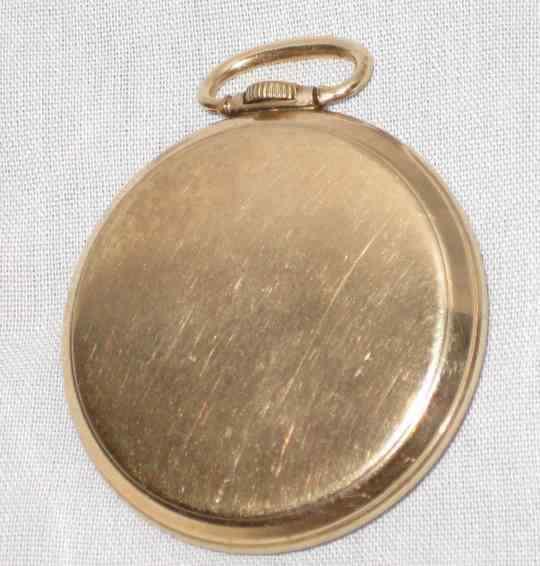 "GREAT Vtg 1 3/4"" J BOSS WALTHAM 17 Jewel Pocket Watch"