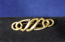 Vintage Signed Monet Gold Tone 2 5/8 Inch Bar Style Brooch Pin - $25.99