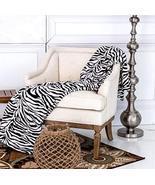 King Size Zebra Black White Coral Fleece Mega Throw Bed Blanket - $29.99