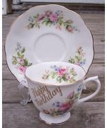 Royal Albert Moss Rose Tea Cup & Saucer Set Mint - $29.95