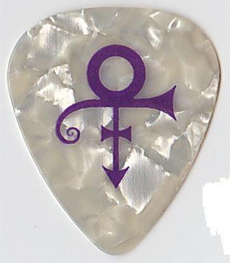 Prince Artist Symbol Tour Guitar Pick Purple/Pearl Official Plectrum New