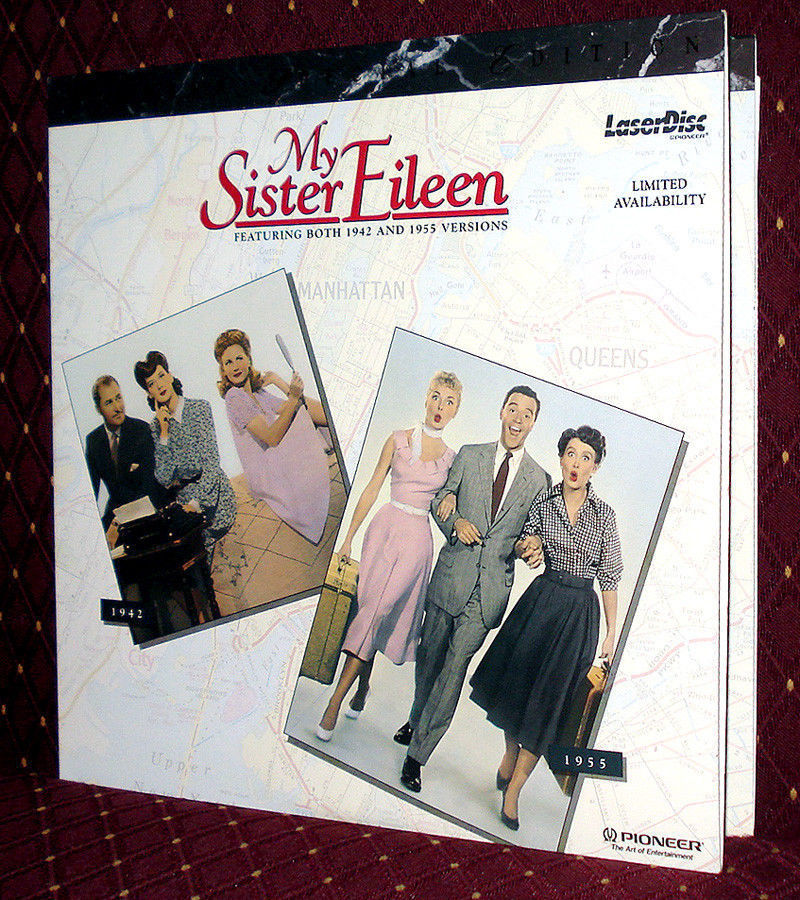 'MY SISTER EILEEN' x2— 1942 Comedy & WS Musical Remake on Mint PSE Laser Disc