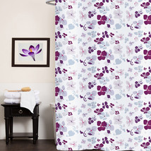 "Fabric Shower Curtain 70""x72"" Joanne Multi Floral Print Polyester - $14.39"