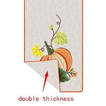 Grelucgo Halloween and Thanksgiving Holiday Table Runners, Fall Autumn Harvest D image 4