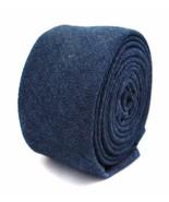 Frederick Thomas dark blue denim 100% linen mens tie FT2053 - $18.35