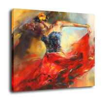 "Fantasy Art Oil Painting Print On Canvas Home Decor""sexy dancer""Framed - $15.81+"