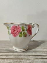 Lady Alexander Rose England Queen Anne Gd Rim Creamer Bell China - $9.26