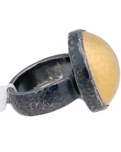 ▌Authentic GURHAN Silver Yellow Gold Amulet Ring Size 6.25,6.5,6.75,7 »$... - $375.50