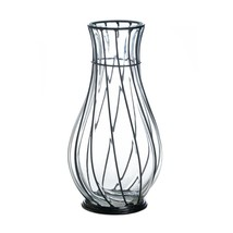 Glass Centerpiece Vases, Short Metal Accent Home Modern Vases Decorative - $58.29