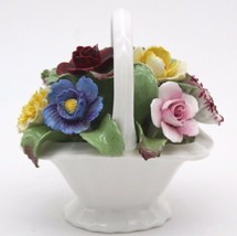FINE BONE CHINA FLORAL BOUQUET BY AYNSLEY ENGLAND VINTAGE 4 x 4 - $44.99