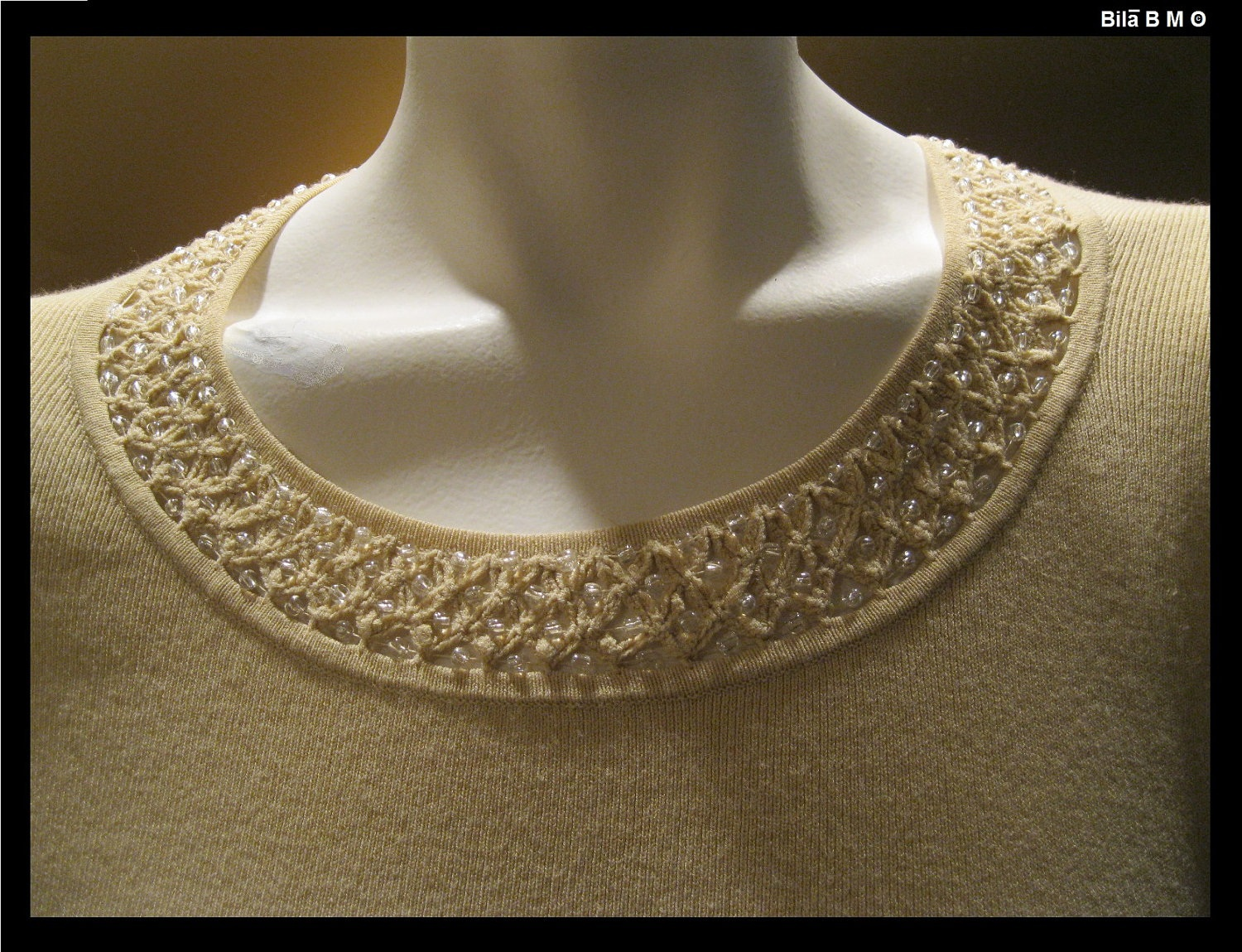 SIGRID OLSEN Knit Top with Beaded Neckline - Size Medium - FREE SHIPPING image 2