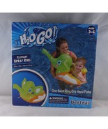 Bestway H20 Go! Inflatable Swim Ring w/ Built-In Hand Pump -New - Green ... - $14.24