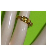 Technibond Citrine Simulated Oval CZ Ring Size 7 - $34.97