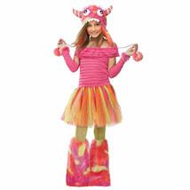 WILD CHILD MONSTER w/HOODIE HALLOWEEN COSTUME GIRLS SIZE MEDIUM 8-10 - $24.89