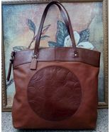Authentic COACH LAURA Brown Leather Satchel Large TOTE Handbag PURSE Z23... - $49.99