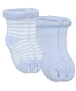 Kushies Terry Newborn Socks 2 Pack Blue - $6.00