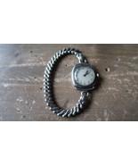 Antique Ladies 14k White Gold ART DECO Elgin Wristwatch Watch Blue Hands WORKING - $554.39