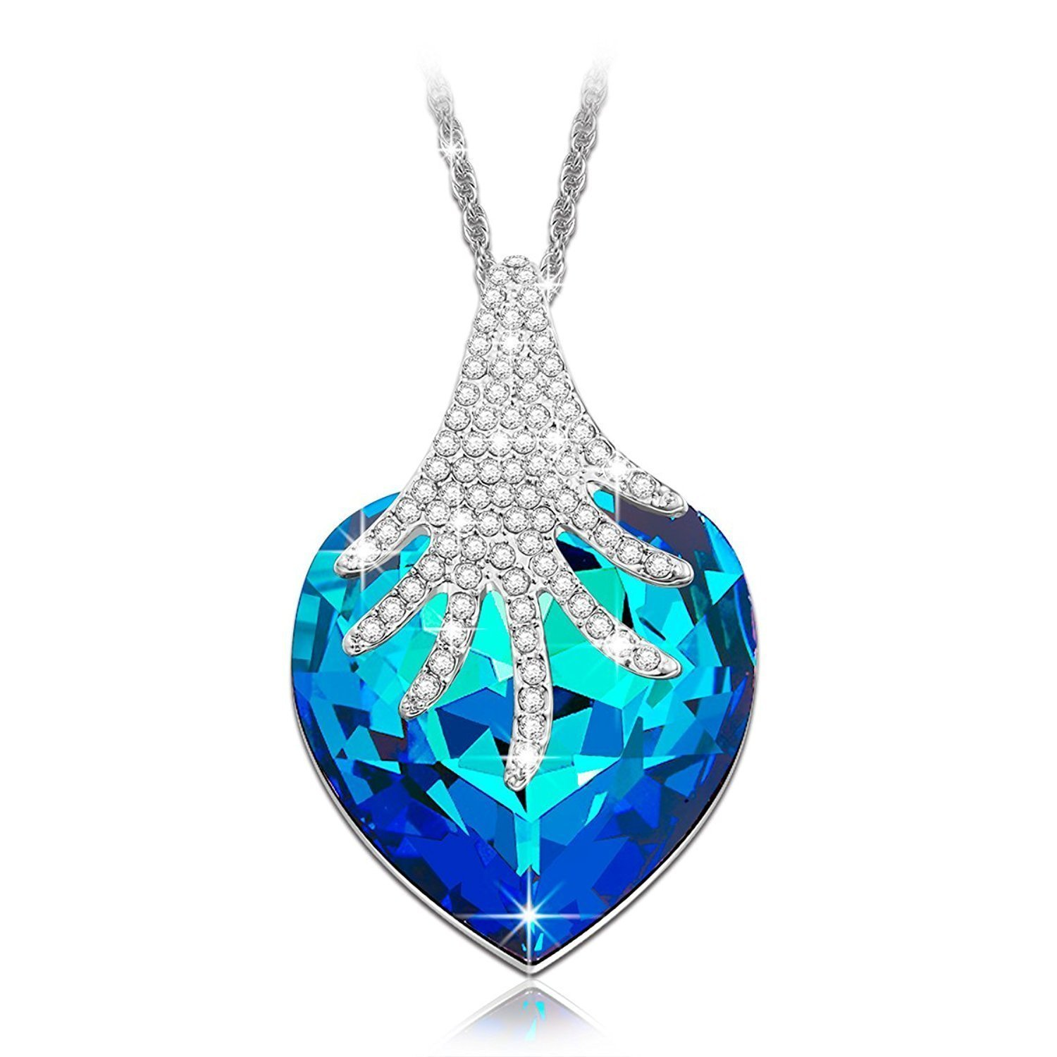 "Bella Gifts for Women Heart Of The Ocean Necklace Fashion Jewelry ""The Wishing T"